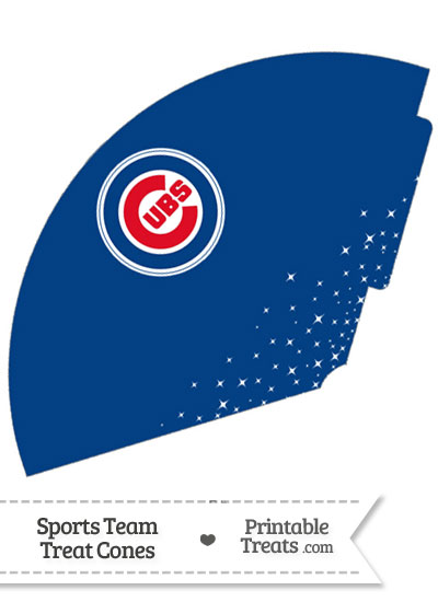 Cubs Treat Cone Printable from PrintableTreats.com
