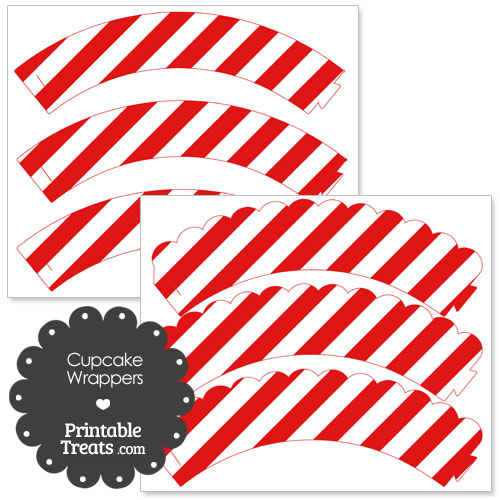 cupcake wrappers with red stripes