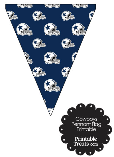 Dallas Cowboys Football Helmet Pennant Banners from PrintableTreats.com