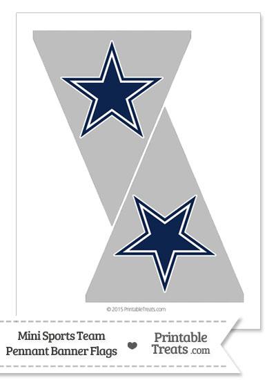 Dallas Cowboys Mini Pennant Banner Flags from PrintableTreats.com
