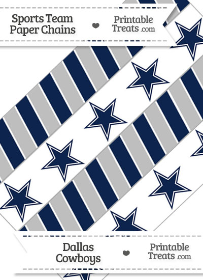 Dallas Cowboys Paper Chains from PrintableTreats.com
