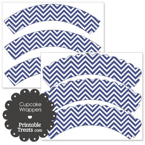dark blue chevron cupcake wrappers