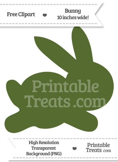 Dark Olive Green Bunny Clipart from PrintableTreats.com