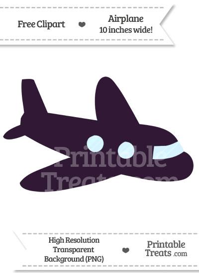 Dark Purple Airplane Clipart from PrintableTreats.com