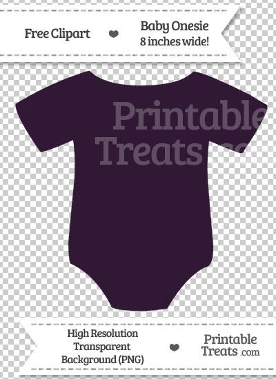 Dark Purple Baby Onesie Clipart from PrintableTreats.com