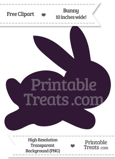 Dark Purple Bunny Clipart from PrintableTreats.com