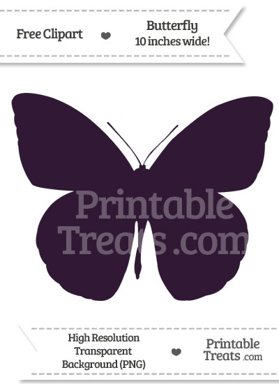 Dark Purple Butterfly Clipart from PrintableTreats.com