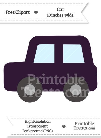 Dark Purple Car Clipart from PrintableTreats.com