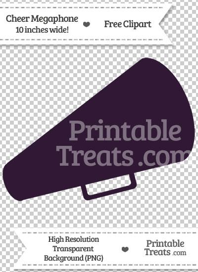 Dark Purple Cheer Megaphone Clipart from PrintableTreats.com