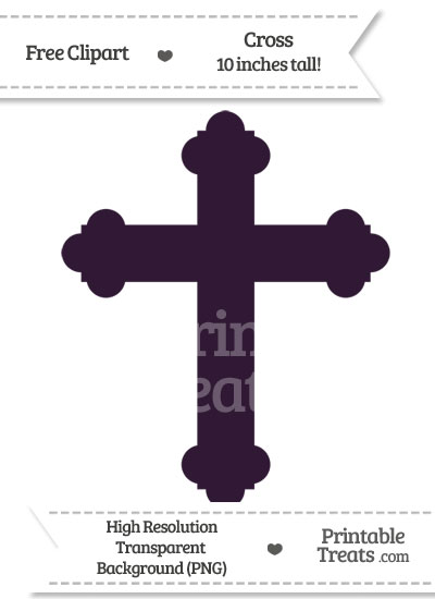 Dark Purple Cross Clipart from PrintableTreats.com