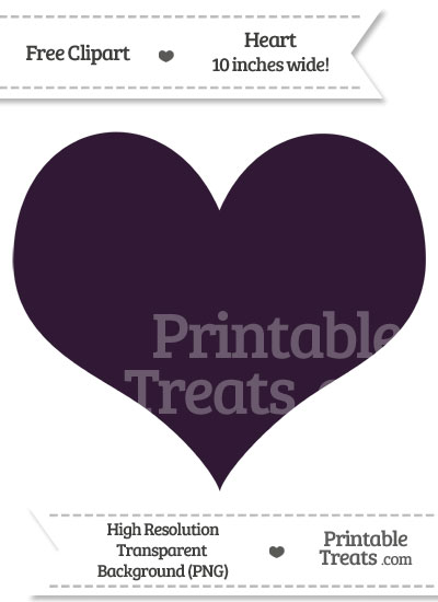 Dark Purple Heart Clipart from PrintableTreats.com