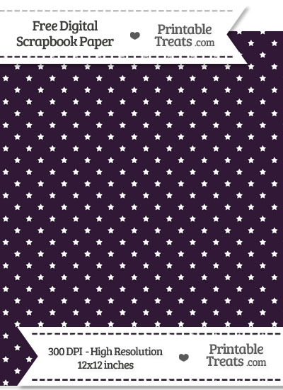 Dark Purple Mini Stars Digital Paper from PrintableTreats.com