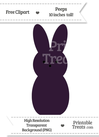 Dark Purple Peeps Clipart from PrintableTreats.com