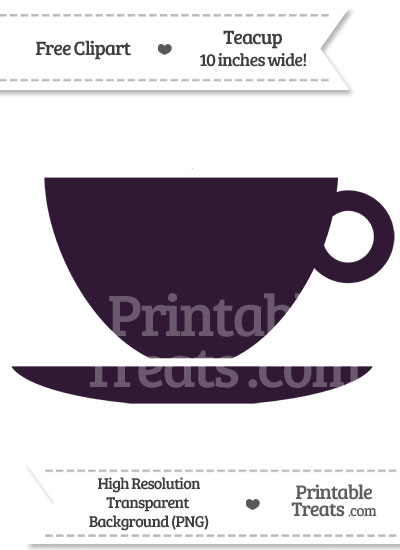 Dark Purple Teacup Clipart from PrintableTreats.com
