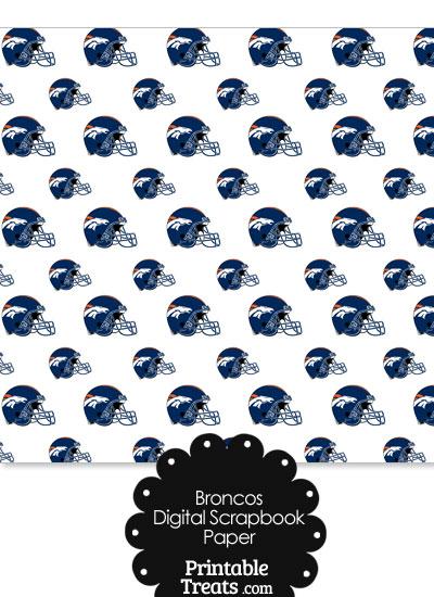Denver Broncos Football Helmet Digital Paper from PrintableTreats.com
