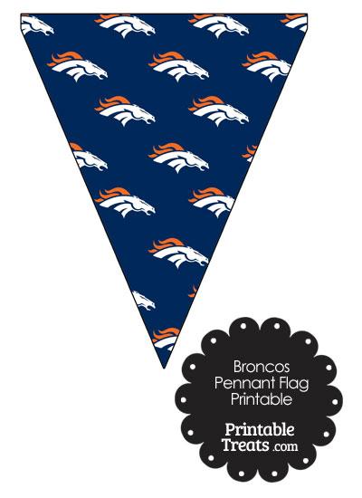 Denver Broncos Logo Pennant Banners from PrintableTreats.com
