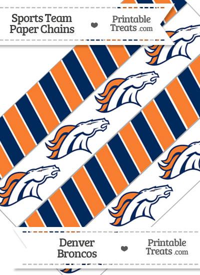 Denver Broncos Paper Chains from PrintableTreats.com
