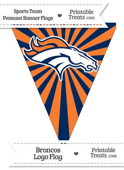 Denver Broncos Pennant Banner Flag from PrintableTreats.com