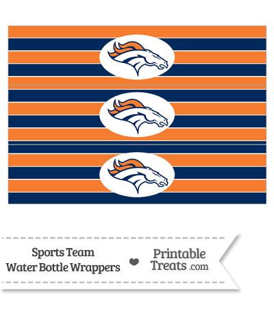 Denver Broncos Water Bottle Wrappers from PrintableTreats.com
