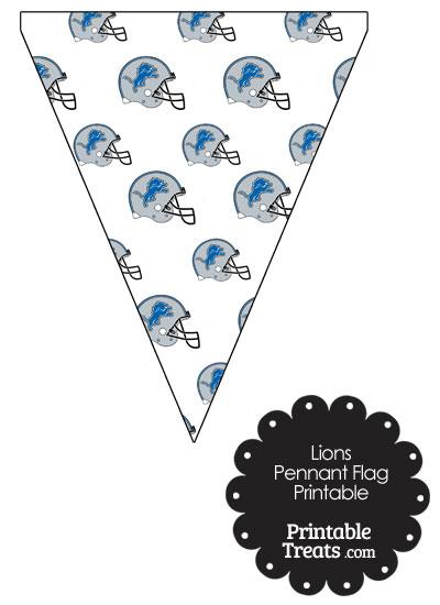 Detroit Lions Football Helmet Pennant Banners from PrintableTreats.com