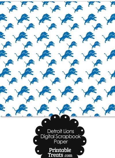 Detroit Lions Logo Digital Paper from PrintableTreats.com