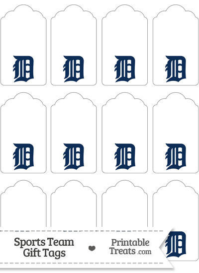 Detroit Tigers Gift Tags from PrintableTreats.com