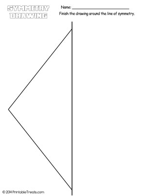 diamond symmetry drawing worksheet