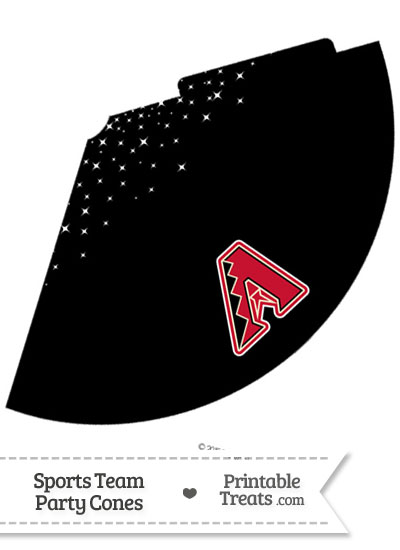 Diamondbacks Party Cone Printable from PrintableTreats.com