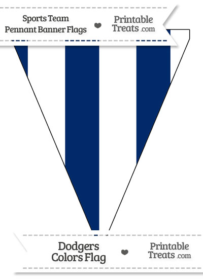 Dodgers Colors Pennant Banner Flag from PrintableTreats.com
