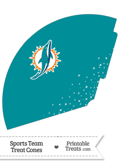 Dolphins Treat Cone Printable from PrintableTreats.com