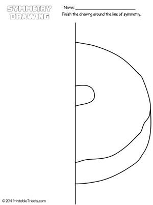 donut symmetry drawing worksheet
