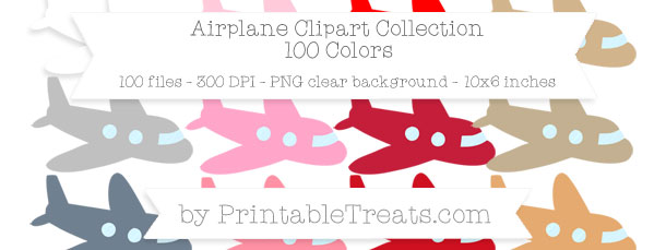 Download 100 Colors Airplane Clipart from PrintableTreats.com
