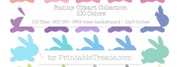 Download 100 Colors Bunny Clipart from PrintableTreats.com