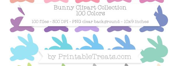 Download 100 Colors Bunny Clipart from PrintableTreats.com