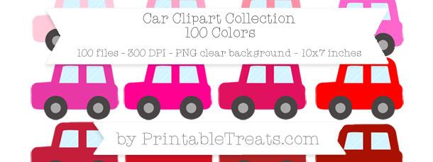 Download 100 Colors Car Clipart from PrintableTreats.com