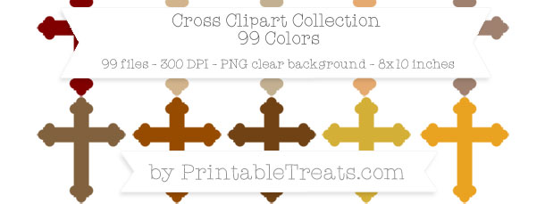 Download 100 Colors Cross Clipart from PrintableTreats.com
