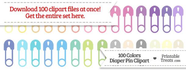 Download 100 Colors Diaper Pin Clipart from PrintableTreats.com