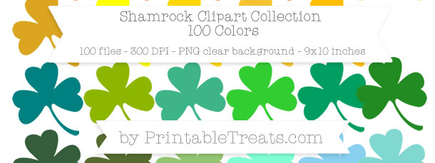Download 100 Colors Shamrock Clipart from PrintableTreats.com
