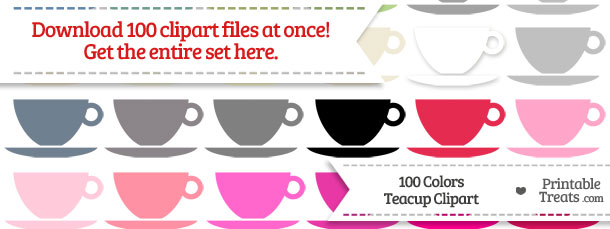 Download 100 Colors Teacup Clipart from PrintableTreats.com
