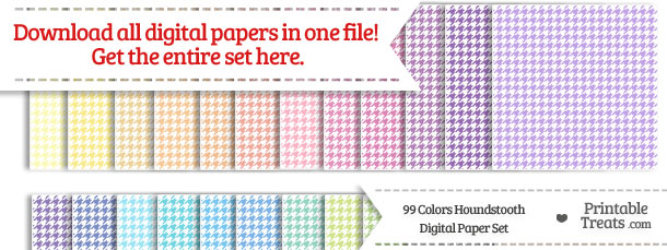 Download 99 Colors Houndstooth Digital Paper from PrintableTreats.com