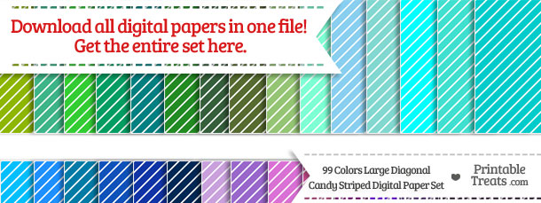 Download 99 Colors Large Diagonal Candy Striped Digital Paper from PrintableTreats.com