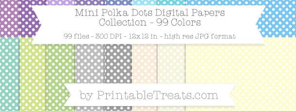 Download 99 Colors Mini Polka Dots Digital Paper from PrintableTreats.com