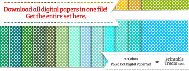 Download 99 Colors Polka Dot Digital Paper from PrintableTreats.com