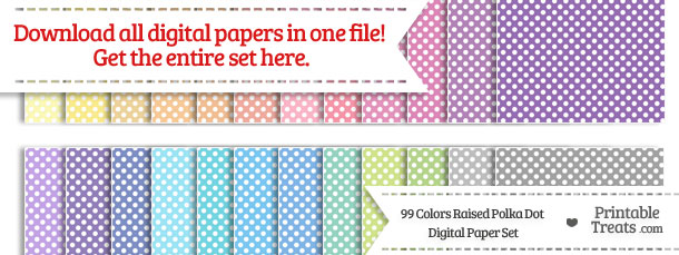 Download 99 Colors Raised Polka Dot Digital Paper from PrintableTreats.com