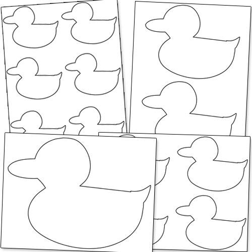 duck shape printable