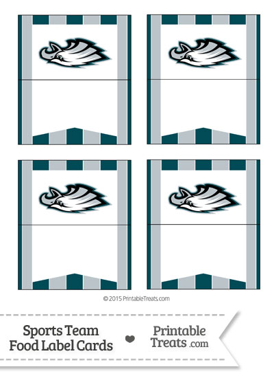 Eagles Food Label Buffet Cards from PrintableTreats.com