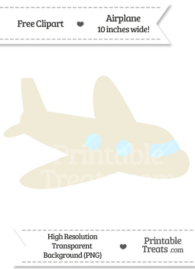 Eggshell Airplane Clipart from PrintableTreats.com