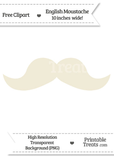 Eggshell English Mustache Clipart from PrintableTreats.com