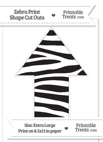 Extra Large Zebra Print Arrow Cut Out from PrintableTreats.com