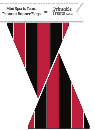 Falcons Colors Mini Pennant Banner Flags from PrintableTreats.com